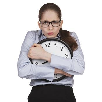 jeune femme en proie au stress